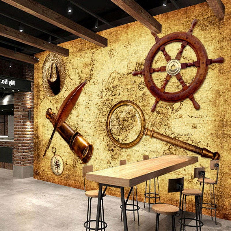 Custom Wall Mural Retro World Map Theme Background Bedroom Living Room 3D Stereo Lobby Hotel Wallpaper In Wallpapers From Home Improvement On