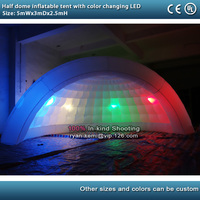 5m LED lighting inflatable half dome tent inflatable bar inflatable wedding party igloo tent marquee with color changing LED