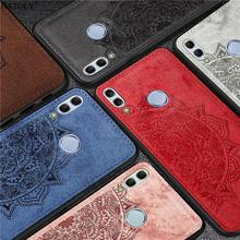 For Huawei P Smart 2019 Case Silicone Shell TPU Cloth Texture Phone Cover for