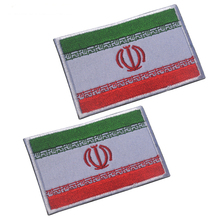 3D embroidery patches armband loops and hook Flag of Iran badges for clothing or hat bag patch