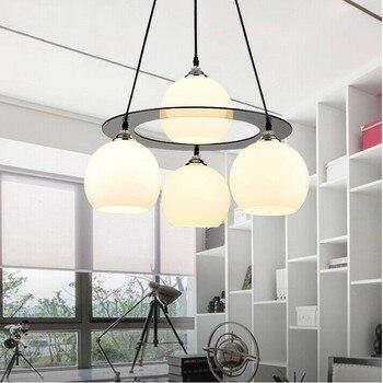 A1 מסעדת נברשת פשוט מודרני יצירתי אור LED קריסטל מנורת שלוש או ארבעה מנורה בחדר מנורת חדר אוכל עגול