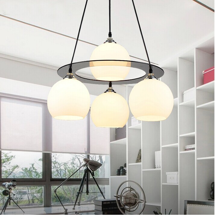 A1 Restaurant light simple modern creative chandelier LED crystal lamp three or four round dining room lamp room lamp modern ring chandelier crystal light stainless steel led lamp of the sitting room dining room lamp droplight on three floors