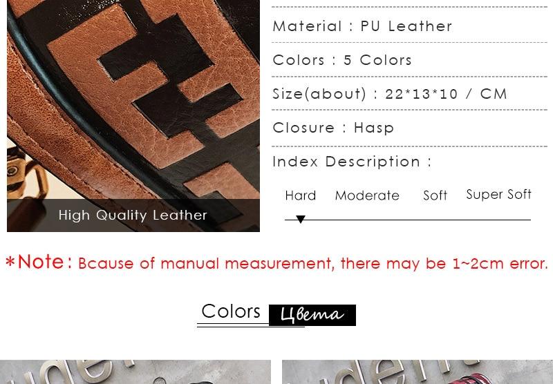 2019 Sac Femme Luxury Handbags Women Bags Designer Leather Crossbody Bag For Women Shoulder Bag Ladies Messenger Bags Letter (3)