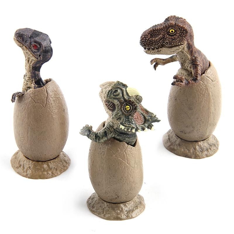 3pcs/set Jurassic World Plastic Dinosaur Model Action Figures Semi-hatching Dinosaur Eggs Learning Education toys For kid