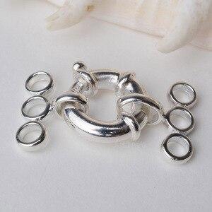 Застежка, 3-жильный круглый пружинный болт с кольцом, серебристый болт с кольцом, пружинная морская застежка