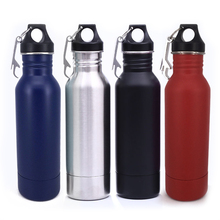 one Pcs Europe and the United States 304 stainless steel beer bottle cold beer mug 12oz Stainless Steel Beer Water Bottle Mug(China)
