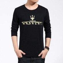 fashion casual brand clothing 2016 new high quality cotton tshirt homme long sleeved t shirt o neck T-shirt print t shirt men 5X