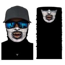 все цены на Clown Joker Face Shield Balaclava Motor Mask Bandana Face Shield Ghost Skull Face Mask Summer Anti-UV Sun Bicycle Ski Skull Half онлайн