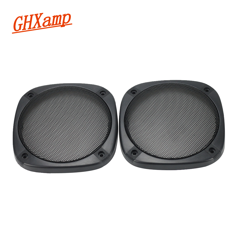 GHXAMP 2PCS 5 pollici Car Speaker Grill Mesh Cover protettiva in ABS