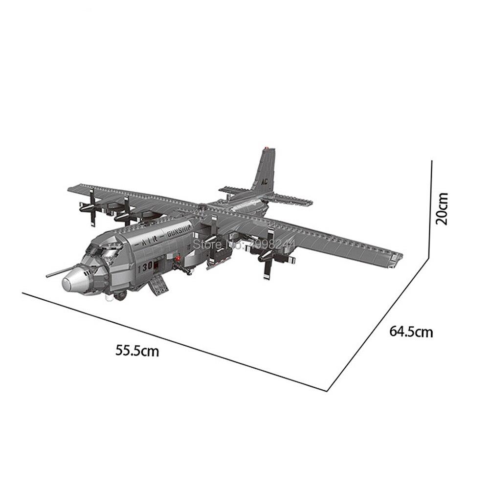 Xb06023 1713pcs 군사 시리즈 130 공중 gunboat 세트 빌딩 블록 3 피규어 벽돌 장난감-에서블록부터 완구 & 취미 의  그룹 2