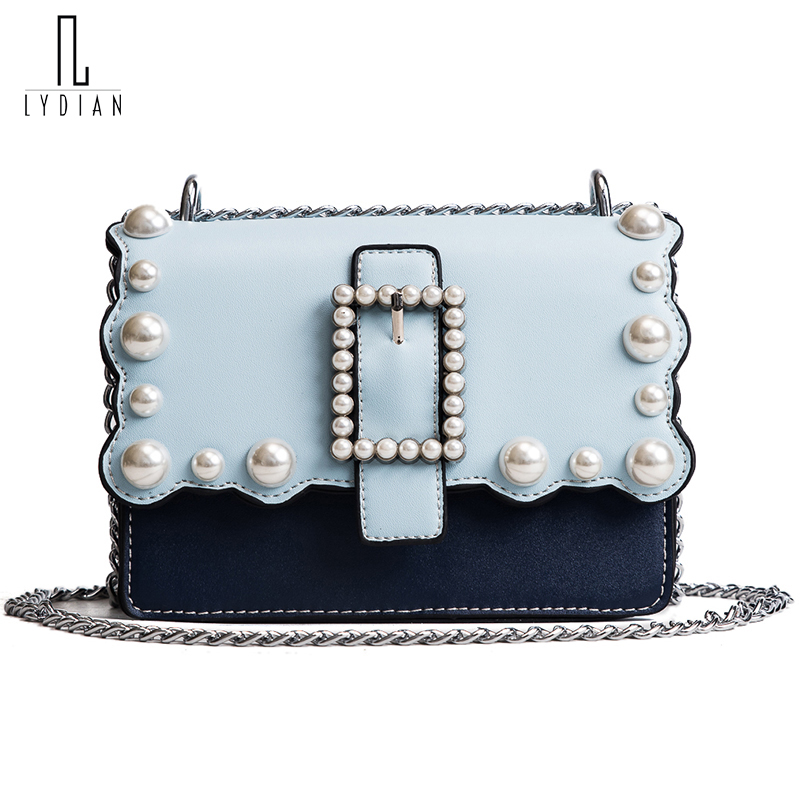 Lydian Luxury Handbags Women Bags Designer Handbags High Quality PU Leather Bag Famous Brand Retro Shoulder Bag Rivet Sac A Main lydian women classic luxury pu leather smiling face bag black handbags bat wings lady smiley totes phantom famous purse clutches