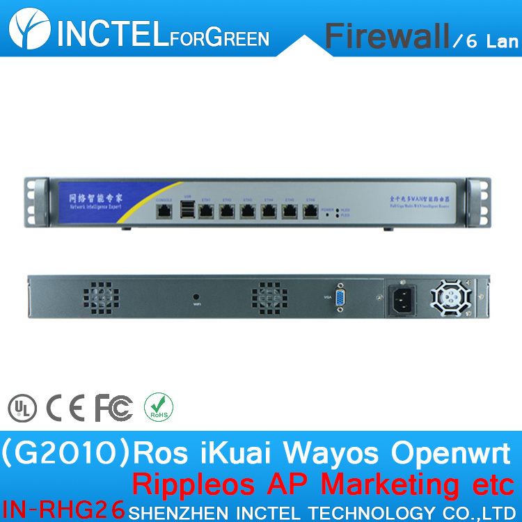Customized Internet router manufacturers ROS 6 Gigabit flow control cisco asa firewall with G2010 processor H61 Express chipset wavelets processor