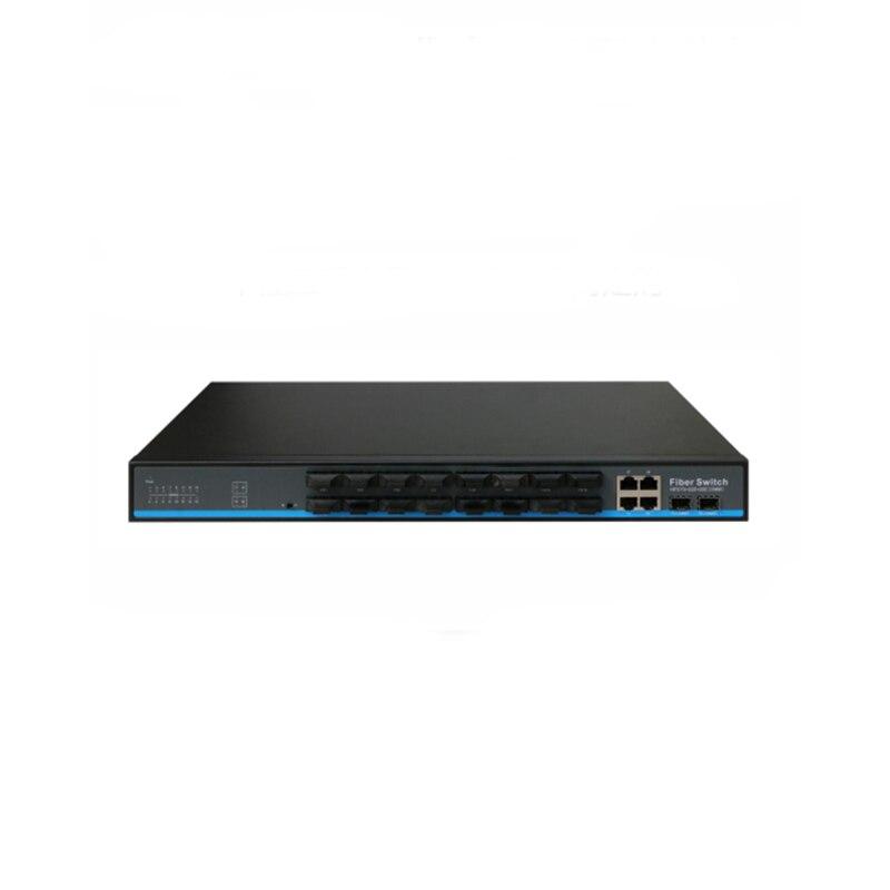 Fiber Optical 16 ports SFP fiber with 2 rj45 gigabit 2 gigabit ports combo  optical fiber ethernet switch for ip camera
