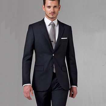 Black Business Men Suits Custom Made, Bespoke Classic Black Wedding Suits For Men, Tailor Made Groom Suit  WOOL Tuxedos For Men - DISCOUNT ITEM  0% OFF All Category