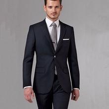 Zwart Zakelijke Mannen Pakken Custom Made, Bespoke Klassieke Black Wedding Suits Voor Mannen, tailor Made Bruidegom Pak WOL Smoking Voor Mannen