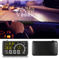 2017 New Car HUD Head Up Display ASH-4C Proyector 5.5 pulgadas OBDII OBD Interfaz 2 KM/h MPH Advertencia de Exceso De Velocidad de Alarma sistema