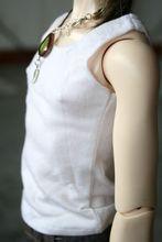 wamami 06 White Vest T shirt 1 4 MSD DOD BJD Dollfie