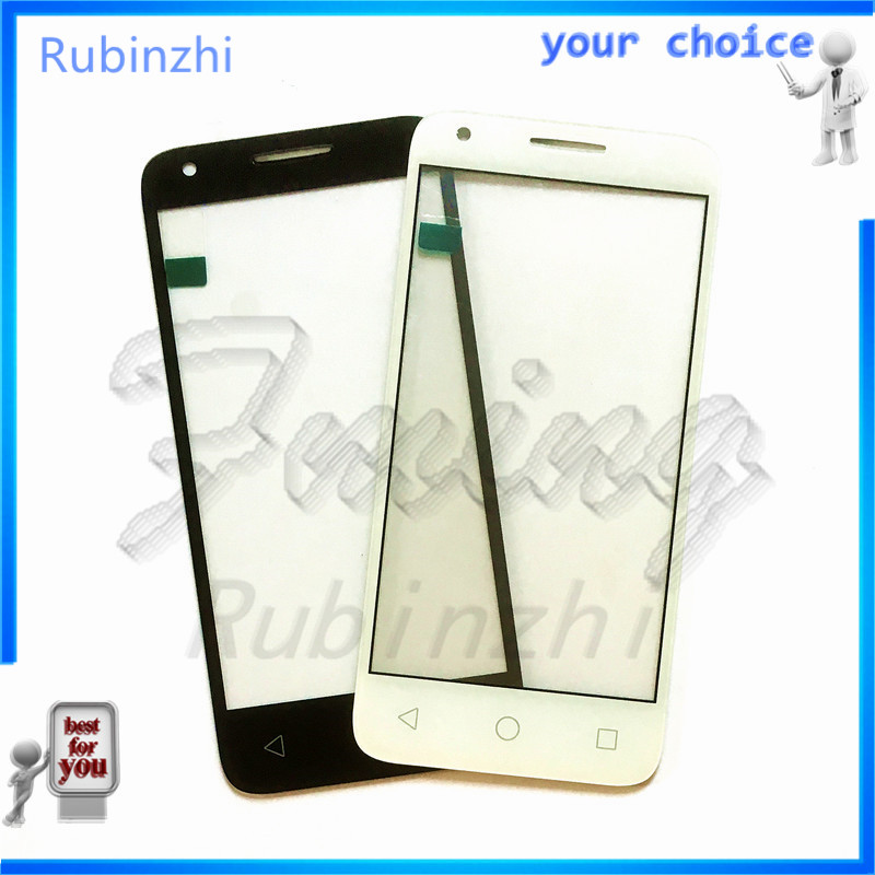 RUBINZHI Glass Lens For Alcatel One Touch Pixi 3 4.5 <font><b>4027D</b></font> 4027X 5017 5017E VF795 OT4027 4027 Smart Speed 6 Front Glass Panel image