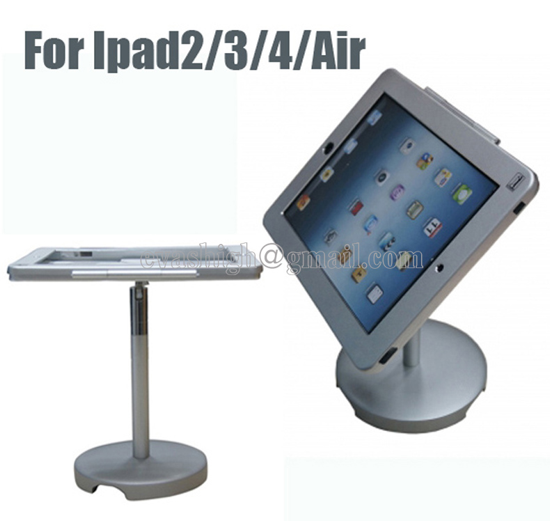 ФОТО Aluminum alloy adjustable counter tablet security display stand holder with lock and key for ipad 2/3/4