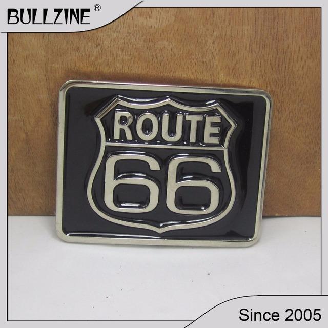 Boucle de ceinture vintage Route 66