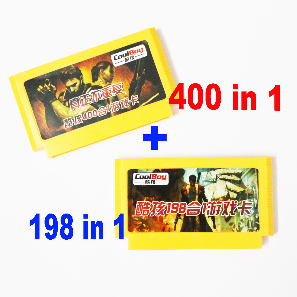 400 in 1 + 198 in 1 Nie Wiederholen Neue 8 Bit spiel Patrone Klassische 60 Pins Spielkarte Für 8 Bit D99 Spiel Player