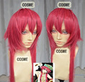 free Shipping MAGI The Labyrinth of Magic Ren Kouha Coral Red Styled Cosplay Party Wig