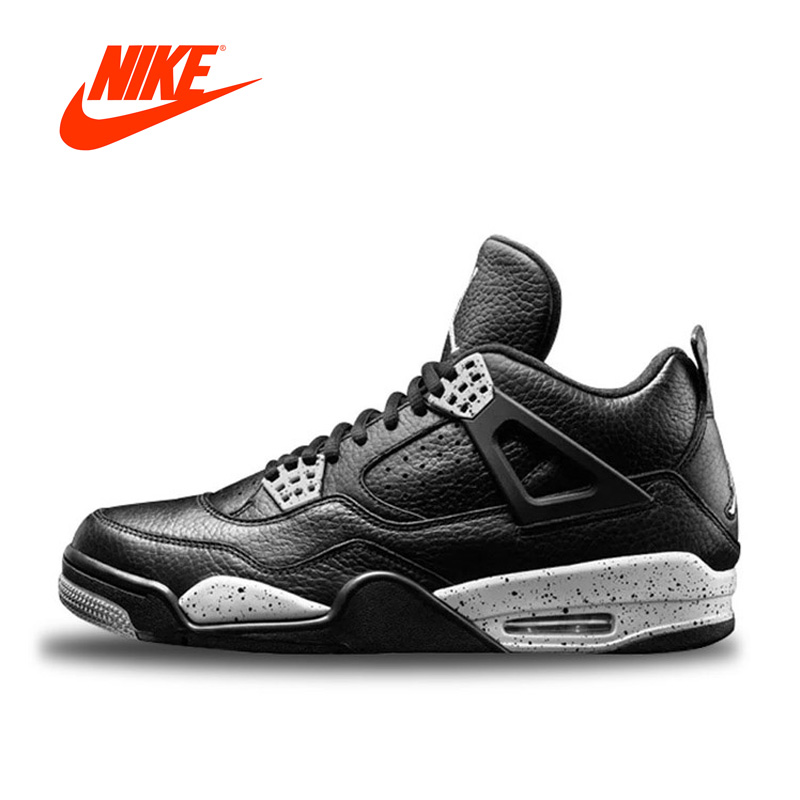 Original New Arrival Authentic Nike Air Jordan 4 Oreo AJ4 Breathable Men's Basketball Shoes Sports Sneakers плитка дикая вишня купить в виннице