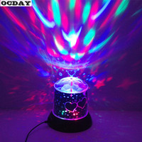 Romantic Colorful Projector Lamp Toys Popular Twilight Night Light LED Laser Light Flashing Atmosphere Lampor For