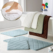 High quanlity Slow rebound memory foam mats waste absorbing slip resistant bath mat velvet mat doormat