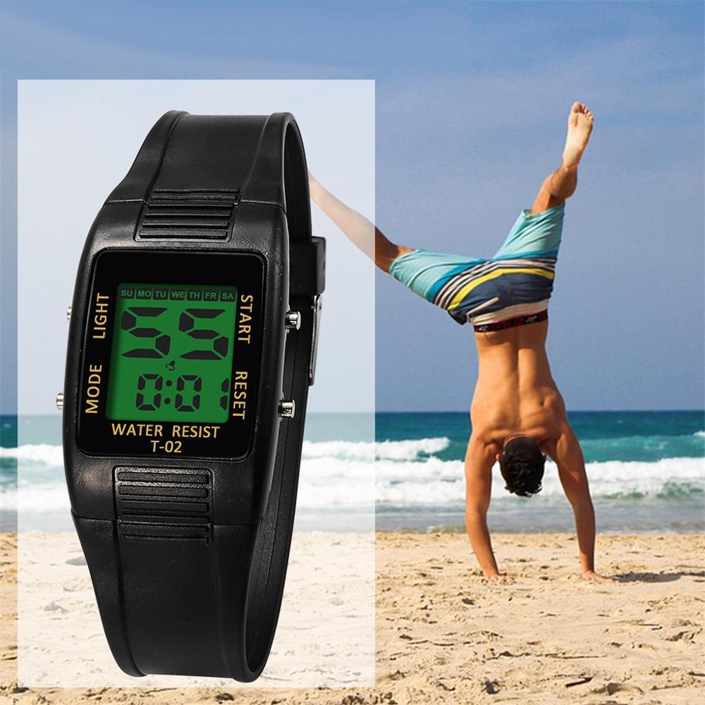 Men High-End Multi-Function 30M Sports Waterproof Electronic Watch Fashion life waterproof LED display black fitness clock