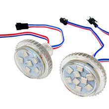 Дизайн! Прибор приемно-35 мм Светодиодная точечная лампа; 9 светодиодов 5050; DC12V; 2,16 Вт; IP65; UCS2903 IC; прозрачная крышка с; обувь на плоской подошве с закрытой пяткой
