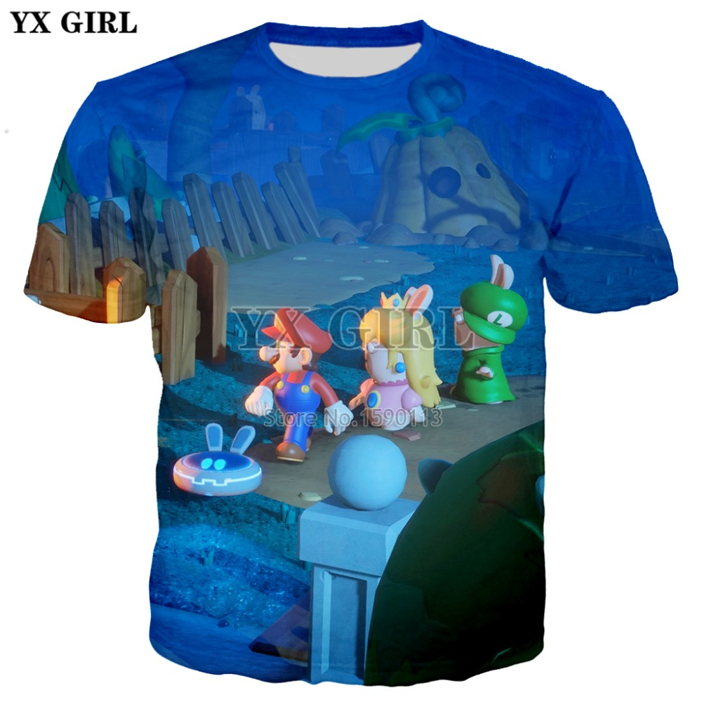 YX GIRL Drop shipping 2018 New Fashion 3d t-shirt Mens Women Cool Tee shirts Cartoon Sup ...