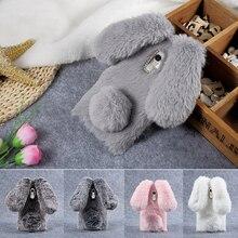 Принципиально coque для xiaomi redmi note 4 case вернуться тпу банни shell прекрасный 3d смазливая мех кролика case для xiomi redmi примечание крышка