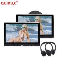 QUIDUX 11,6 дюймов Автомобильный подголовник монитор dvd плеер USB/SD/HDMI/IR/FM/игра TFT ЖК экран сенсорная кнопка поддержка беспроводных наушников
