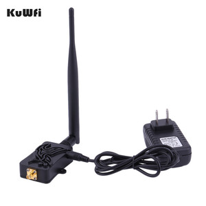 Image 1 - KuWfi 300Mbps Wireless Router High Speed 802.11b/g/n Wifi Wireless Amplifier Router 2.4Ghz Signal Booster with Antenna