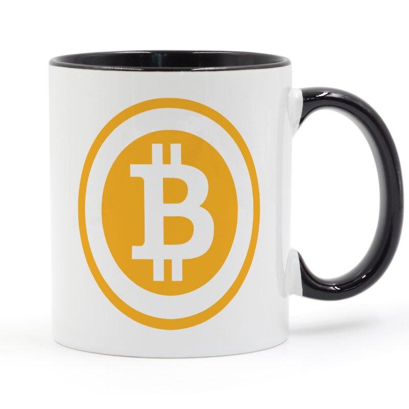 Bitcoin taza café leche cerámica taza creativa DIY regalos decoración del hogar tazas 11 oz GA677