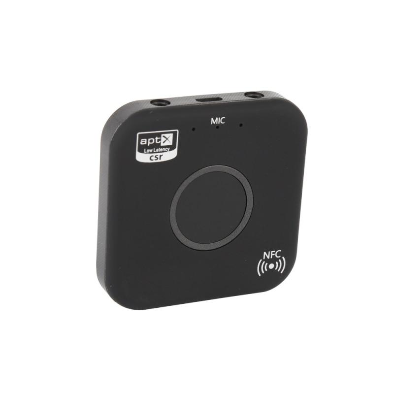 Drahtlose Bluetooth Sender Und Empfänger Adapter 4,2 Audio Apt-x Nfc Cvc6.0 Eingebautes Mikrofon Aux Out Für Handys Ipad Pc Tv Gut FüR Antipyretika Und Hals-Schnuller Tragbares Audio & Video Funkadapter