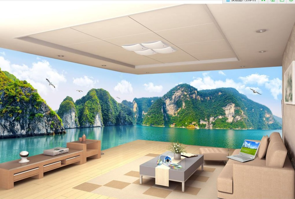 Custom wallpaper for walls 3 d photo wall mural hd for Nature wallpaper for walls
