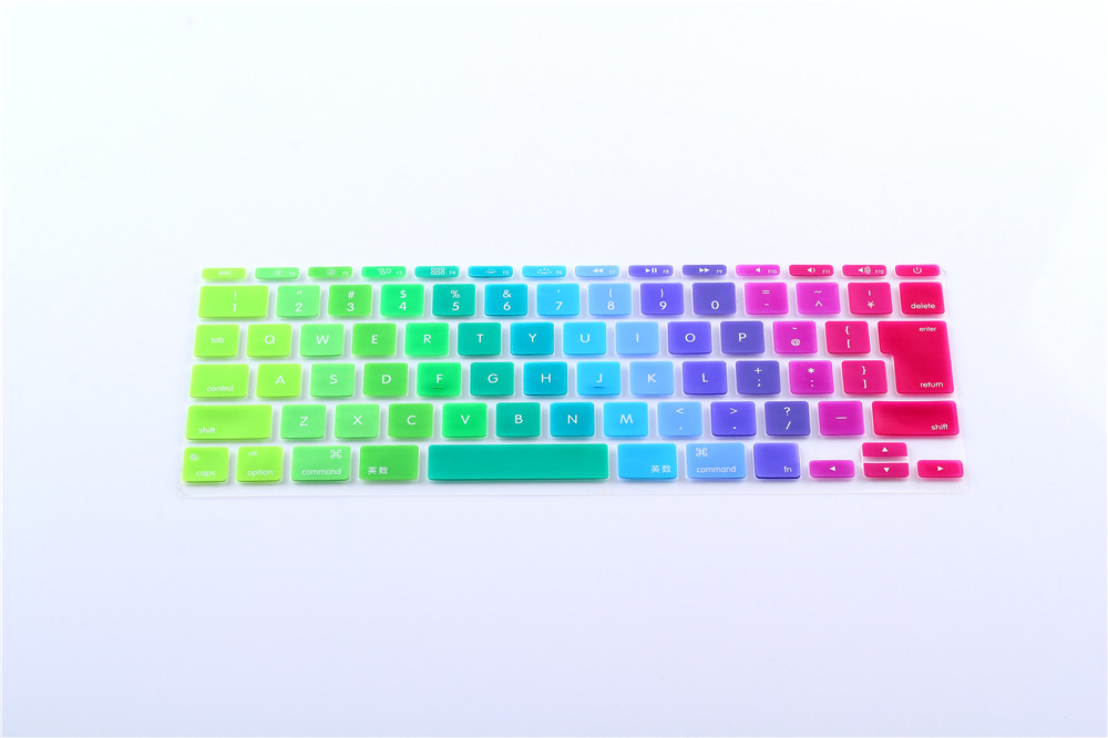 Japanese Jp Keyboard Rainbow English Letter Keyboard Cover Skin