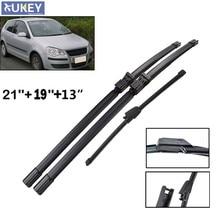 Xukey przednia wycieraczka tylnej szyby ostrza do VW polo MK 4 Typ 9N3 9N szyba przednia 2006 2007 2008 2009 21 ''19'' 13''