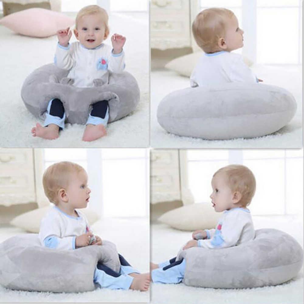 Asiento de apoyo para bebé de felpa suave sofá de bebé aprendizaje para sentarse silla mantener la postura cómoda para Recién Nacido 3- 6 meses