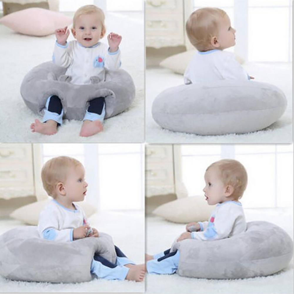 Baby Support Seat Plush Soft Baby Sofa Infant Learning To Sit Chair Keep Sitting Posture Comfortable For Newborn 3-6 Months