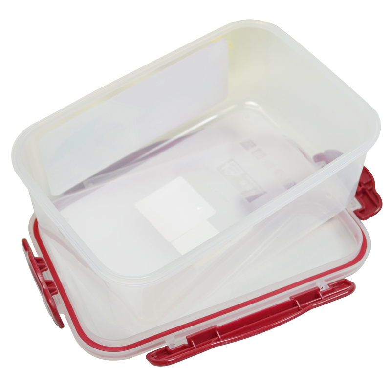 1pc 1700ML PP Storage Organizer Novelty Clear Plastic Vacuum Box Case Fresh Crisper Food Container Japanese Lunch Bento In Boxes Bins From