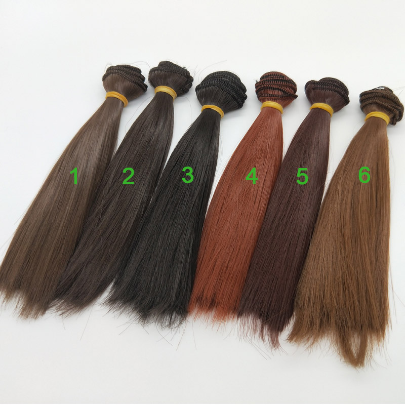 12PCS/LOT Straight Doll Hair DIY Dolls Wig For
