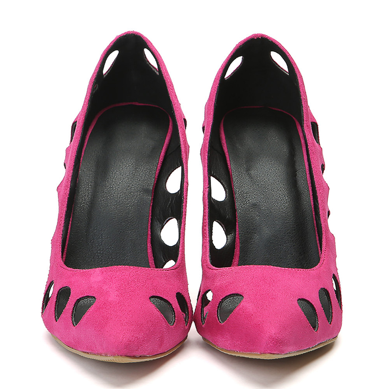 34 Creusent Femmes Partie Pointu 47 Grande 2019 Talons Kcenid Dehors Dames Chaussures Bout Profonde Nouveau Peu Haute Taille Rose Pompes w0nTEpggx
