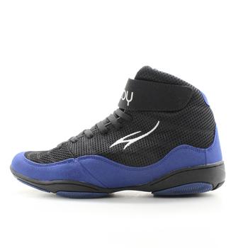 Maultby 1 0 Speed męskie bokserskie buty treningowe czarne niebieskie buty zapaśnicze tanie i dobre opinie Oddychające Masaż Fall2017 Pasuje prawda na wymiar weź swój normalny rozmiar 8008N latex Mesh (air mesh) Profesjonalne