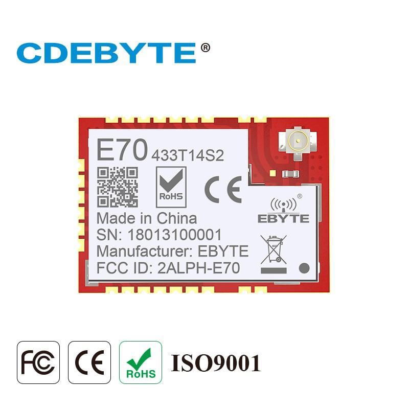 E70-433T14S2 CC1310 433 mhz longue portée communicateur Radio 25 mW IPEX timbre trou antenne IoT uhf 433 mhz rf Module