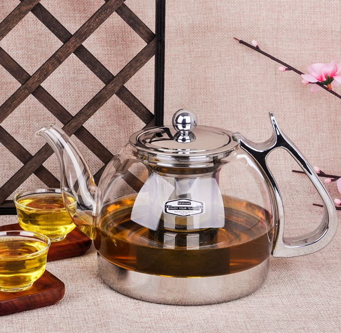 free shipping BOC 08 Induction cooker special glass teapot thickening stainless steel cooker tea pot electric