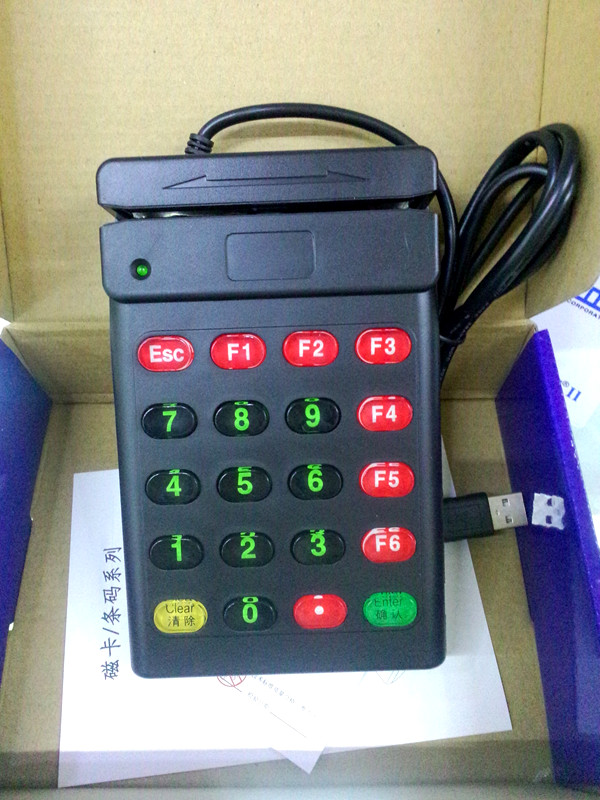 USB Universal Magnetic Card Barcode Reader Stripe Bidirectional Track 2 With Number Keyboard USB