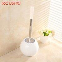 Creative European Style Bathroom Toilet Brush Set Stainless Steel Base Cleaning Brush Holder Washroom Scrub Wash
